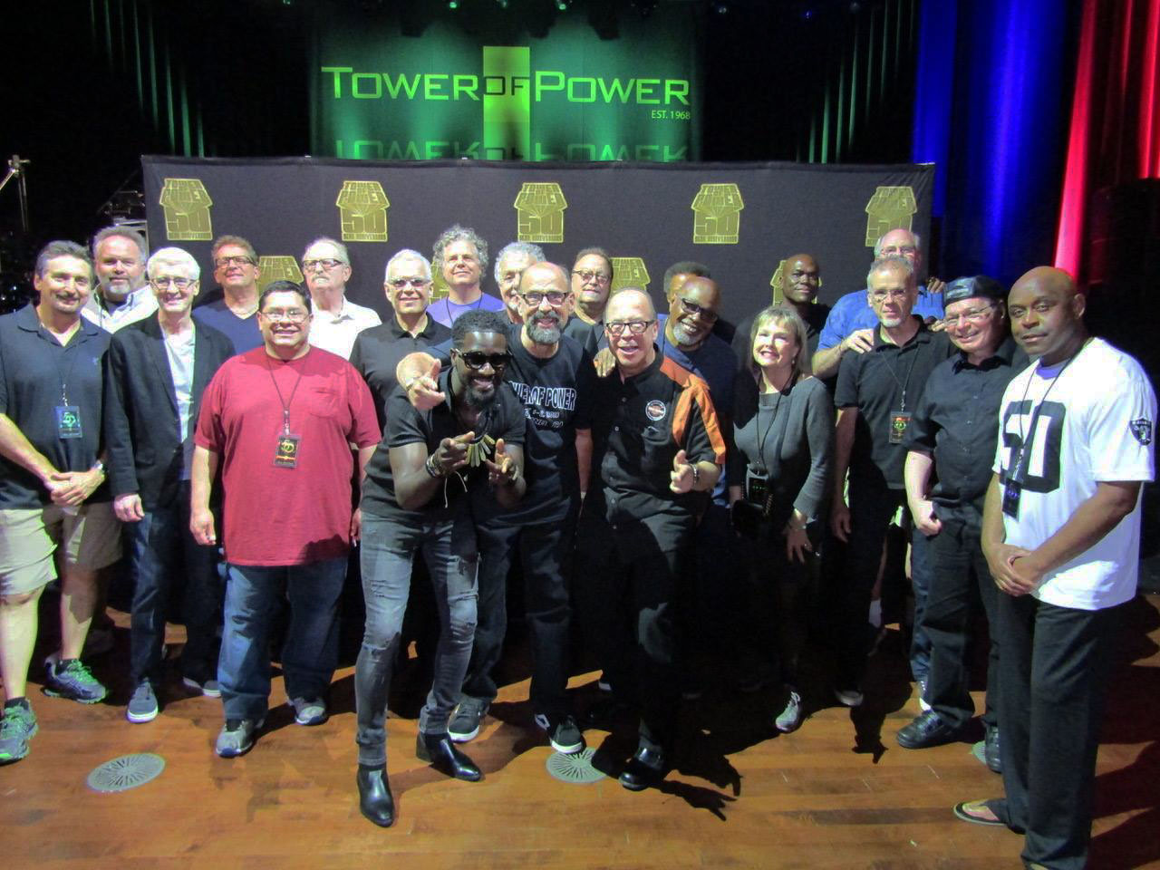 Bob Burchfield with Tower of Power on June 2, 2018 in Oakland, California.