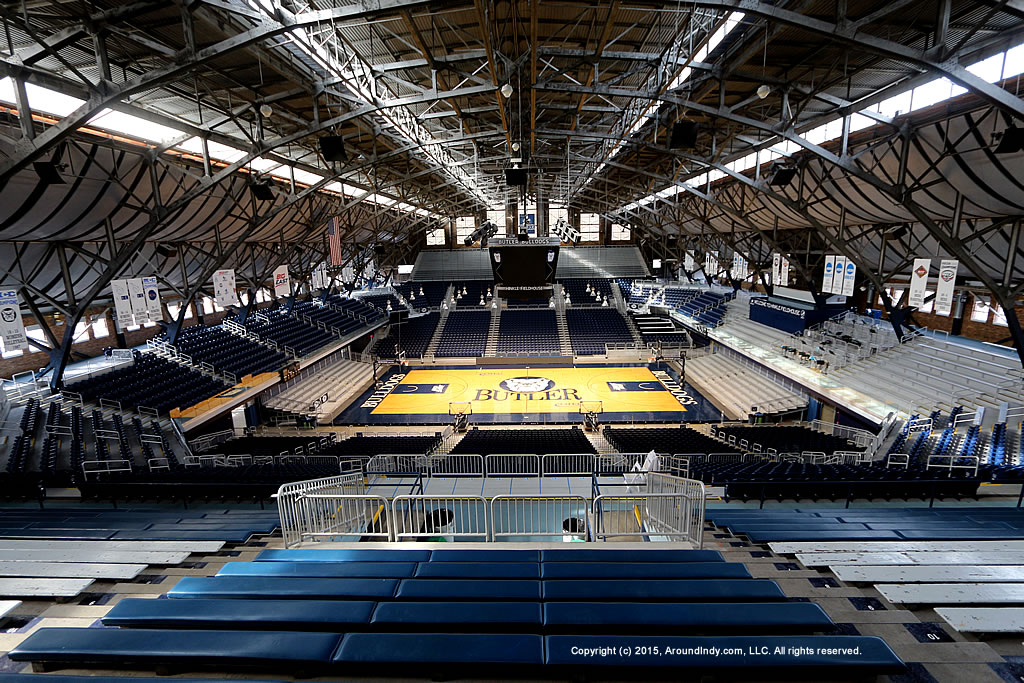 Hinkle Fieldhouse on the campus of Butler University in Indianapolis, Indiana.