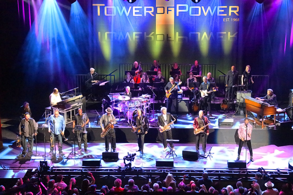 Tower of Power at the Fox Theatre in Oakland, California, June 1, 2018.
