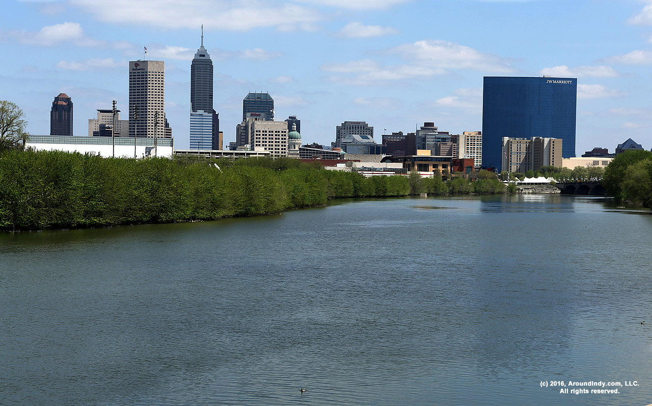 A view of downtown Indianapolis, Indiana.