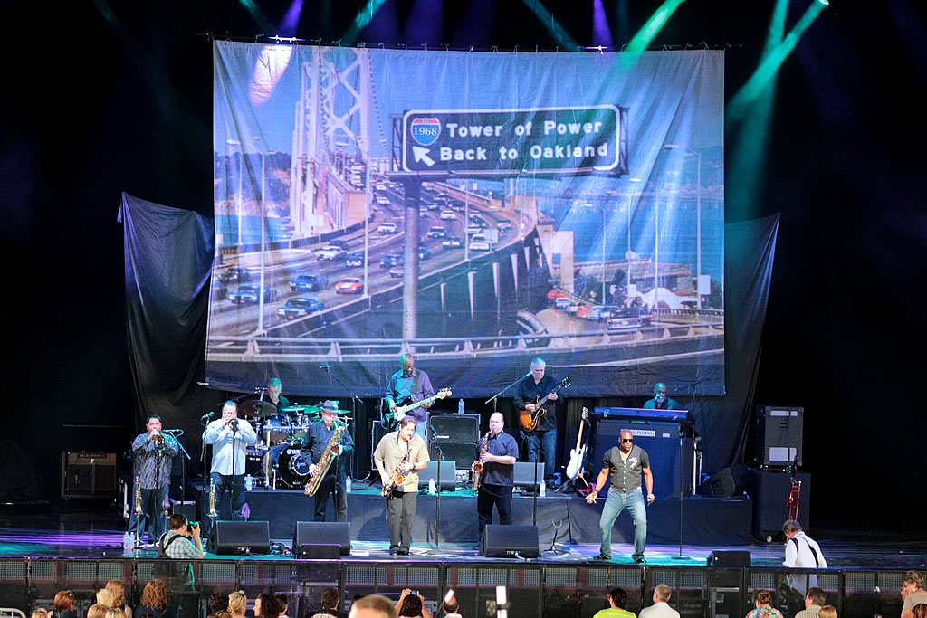 Tower of Power at Riverband Music Center in Cincinnati, Ohio.